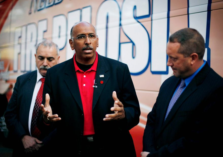 Incumbent RNC Chairman Michael S. Steele faces some rivals for the job Monday at the National Press Club. (Associated Press)
