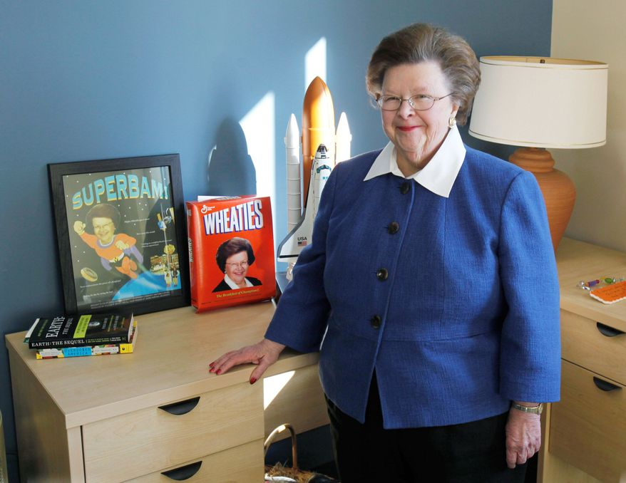 Sen. Barbara Mikulski, Maryland Democrat, will become the longest-serving woman in the U.S. Senate when sworn in later this month. (Associated Press)