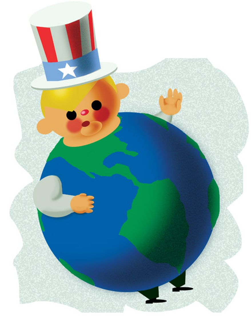 Illustration: It's a fat world after all by Alexander Hunter for The Washington Times