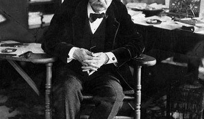 FILE - In this undated photo, author Mark Twain, born Samuel Clemen, is shown.  (AP Photo, file)