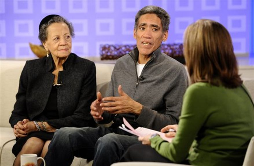 "File-In this Thursday, Jan. 6,2011 file photo, Ted Williams, a homeless man from Columbus, Ohio, whose deep, velvety voice and touching story prompted an outpouring of sympathy and job offers from across the country,  is interviewed an appearance on the NBC ""Today"" television show, in New York. Williams and his daughter got into a heated argument Monday night at a Hollywood hotel where police officers took the pair to the Hollywood police station, calmed them down, talked to them and let them go. It was a minor disturbance and the pair weren't arrested.  (AP Photo/Richard Drew,File)"