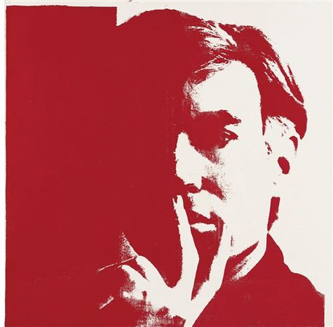 This large-scale Andy Warhol self-portrait, previously unknown to the wider public, and made available by Christie's auction house in London Tuesday Jan. 11, 2011, will be among the highlights of the auctioneer's contemporary art sale next month. The six foot square (half a square meter large) red-and-white painting is one of a well-known series of self-portraits executed by the Pop Art master in 1967. Christie's said Tuesday that five of the 11 works in the series are already in museums. The present work has been hidden away in a private collection since 1974 and is expected to fetch up to 5 million pounds ($7.75 million) when it goes on sale in London on Feb. 16.  Warhol died in 1987 but remains one of the world's most expensive artists. The painting will go on public view in New York from Jan. 22 to Jan. 26. (AP Photo/Christie's Images) FOR ONE TIME USE ONLY IN CONNECTION WITH PREVIEW OR REVIEW OF THE RELEVANT AUCTION SALE: EDITORIAL USE ONLY: NO SALES: NO ARCHIVE: