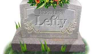 Illustration: Lefty's resting place by Greg Groesch for The Washington Times