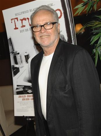 "FILE - In this Monday, June 16, 2008 file picture, Dalton Trumbo's son, Christopher Trumbo, attends the ""Trumbo"" movie premiere in New York. The writer-son of Oscar-winning blacklisted Hollywood screenwriter Dalton Trumbo has died at age 70. Christopher Trumbo, who wrote scripts for ""Ironside,"" ""Quincy, M.E."" and ""Falcon Crest,"" died Saturday, Jan. 8, 2011 at his home in Ojai, Calif. (AP Photo/Evan Agostini)"