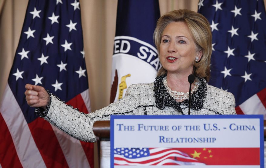 Secretary of State Hillary Rodham Clinton speaks about China, Friday, Jan. 14, 2011, at the State Department in Washington. (AP Photo/Charles Dharapak)
