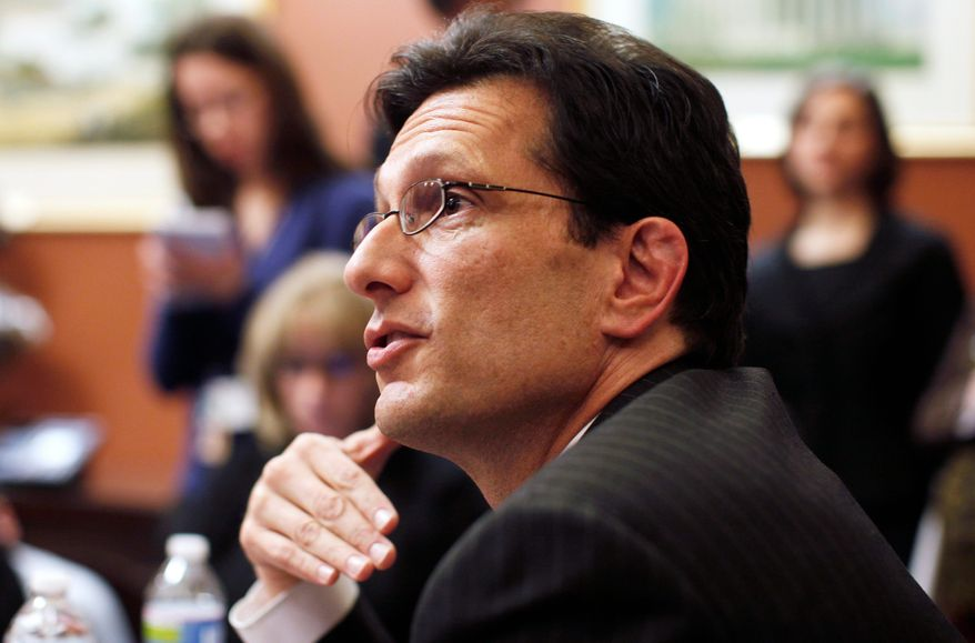 """It is telling that the more Americans learn about it, the more discouraged they are by its harmful effects,"" new House Majority Leader Eric Cantor said Sunday about the new health care law. (Associated Press)"