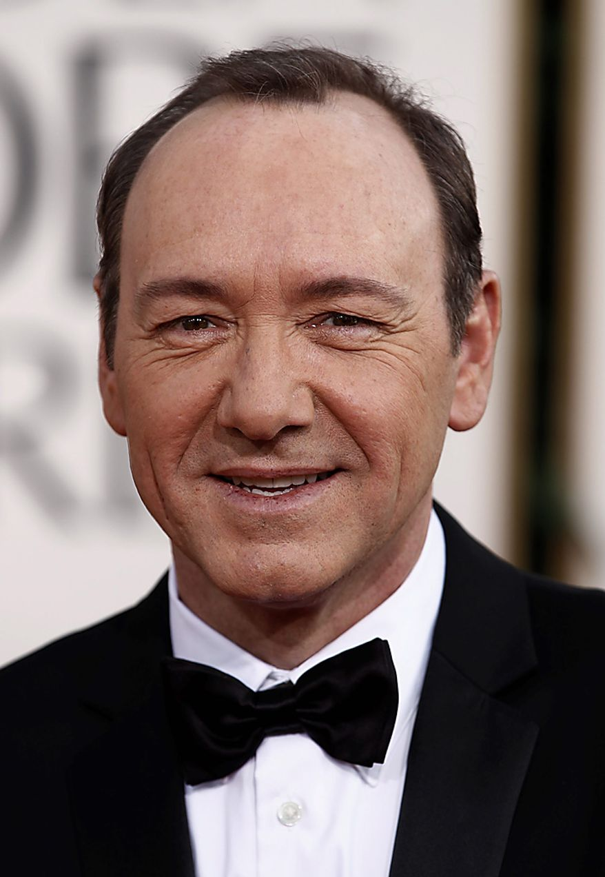 Kevin Spacey arrives for the Golden Globe Awards Sunday, Jan. 16, 2011, in Beverly Hills, Calif. (AP Photo/Matt Sayles)