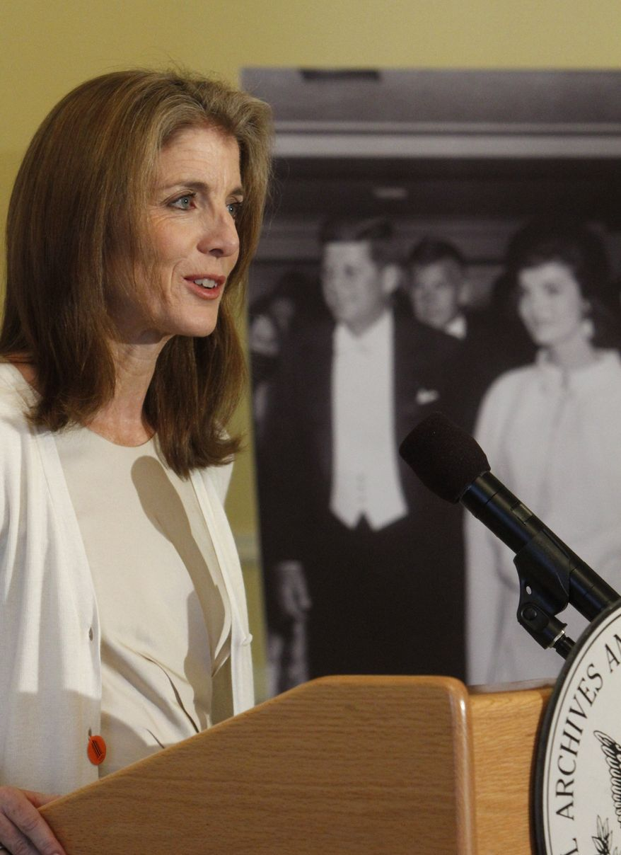 ** FILE ** Caroline Kennedy at the launch of the JFK Digital Archive, as part of the 50th anniversary of the inauguration of President John F. Kennedy, at the National Archives in Washington, on Jan. 13, 2011. (AP Photo/Jacquelyn Martin)