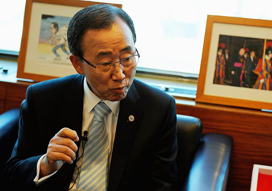 **FILE** U.N. Secretary-General Ban Ki-moon (The Washington Times)