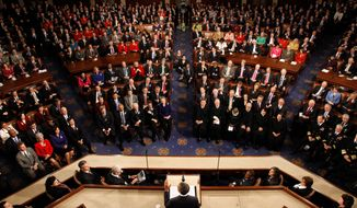 President Obama delivers his State of the Union address Tuesday at the Capitol in Washington. (Associated Press)