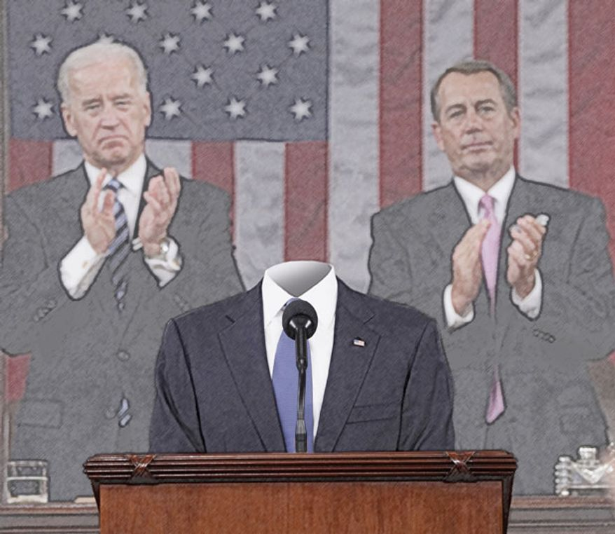 Illustration: The empty suit by Greg Groesch for The Washington Times