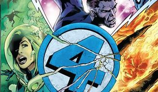 In this comic book image released by Marvel Entertainment, issue No. 587 of the Fantastic Four are shown.  Marvel Entertainment has extinguished the Human Torch's flame and his life, too, as the pop culture purveyor of super heroes and villains embarks on an ambitious story line that ends the Fantastic Four. (AP Photo/Marvel Entertainment)