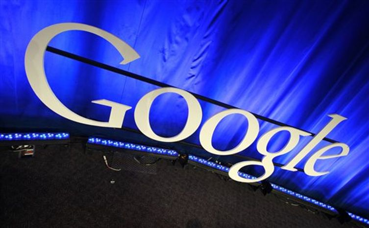 ** FILE ** A Google sign is pictured in April 2010 at Google headquarters in Mountain View, Calif. (AP Photo/Paul Sakuma, File)