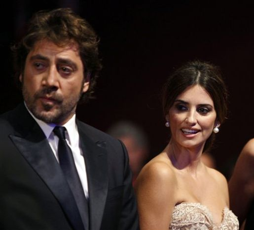 FILE - In this May 23, 2010 file photo, actor Javier Bardem and actress Penelope Cruz arrive during the awards ceremony at the 63rd international film festival, in Cannes, southern France.  (AP Photo/Mark Mainz, File)