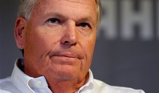 NASCAR team owner Rick Hendrick listens to questions during a media tour in Concord, N.C., Wednesday, Jan. 26, 2011. (AP Photo/Mike McCarn)
