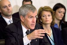 """""""Our on-again, off-again tax credits are no match for [overseas] competitors,"""" Sen. Jeff Bingaman said. He also said that companies will relocate to places that are leading the way in alternative energy. (Associated Press)"""