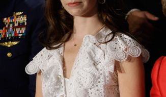 Former President George W. Bush's daughter Barbara Bush says she supports gay marriage. (AP Photo/Ron Edmonds/file)