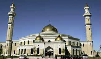 The Islamic Center of America in Dearborn, Mich., is one of the largest mosques in the nation. Roger Stockham was wearing a ski mask and had fireworks in his car nearby on Jan. 24 when he was arrested, police say. (Associated Press)