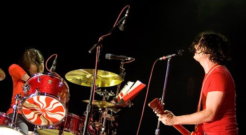 FILE - In this May 5, 2004 file photo, Meg White, left, and Jack White of The White Stripes are shown  in New York.  (AP Photo/ Diane Bondareff, file)