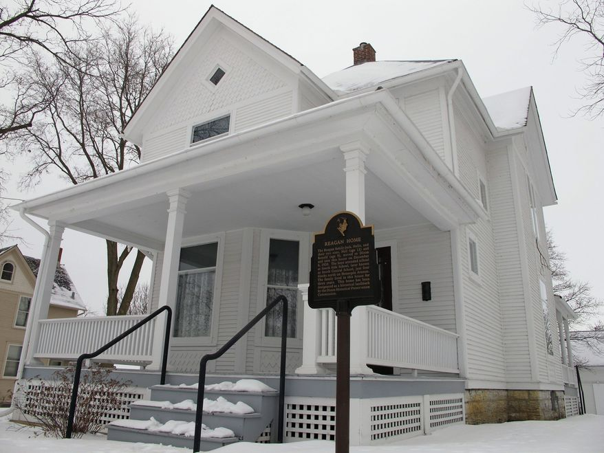 The Ronald Reagan Boyhood Home in Dixon, Ill., is one of a number of places where the country's 40th president lived when he called the small town on the Rock River, 100 miles from Chicago, his home from 1920 through 1933. (Associated Press)