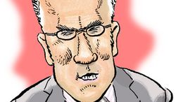 Illustration: Keith Olbermann by Alexander Hunter for The Washington Times
