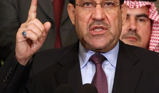 Iraqi Prime Minister Nouri al-Maliki said Friday, Feb. 4, 2011, he will return half of his annual salary to the government's treasury in a symbolic effort to balance the standard of living between the nation's rich and poor. (AP Photo/Hadi Mizban, File)