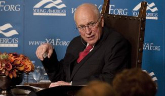 ** FILE ** Former Vice President Dick Cheney speaks to guests at the Reagan Ranch Center on Saturday, Feb. 5, 2011, in Santa Barbara, Calif. (AP Photo/The News-Press, Michael Moriatis)