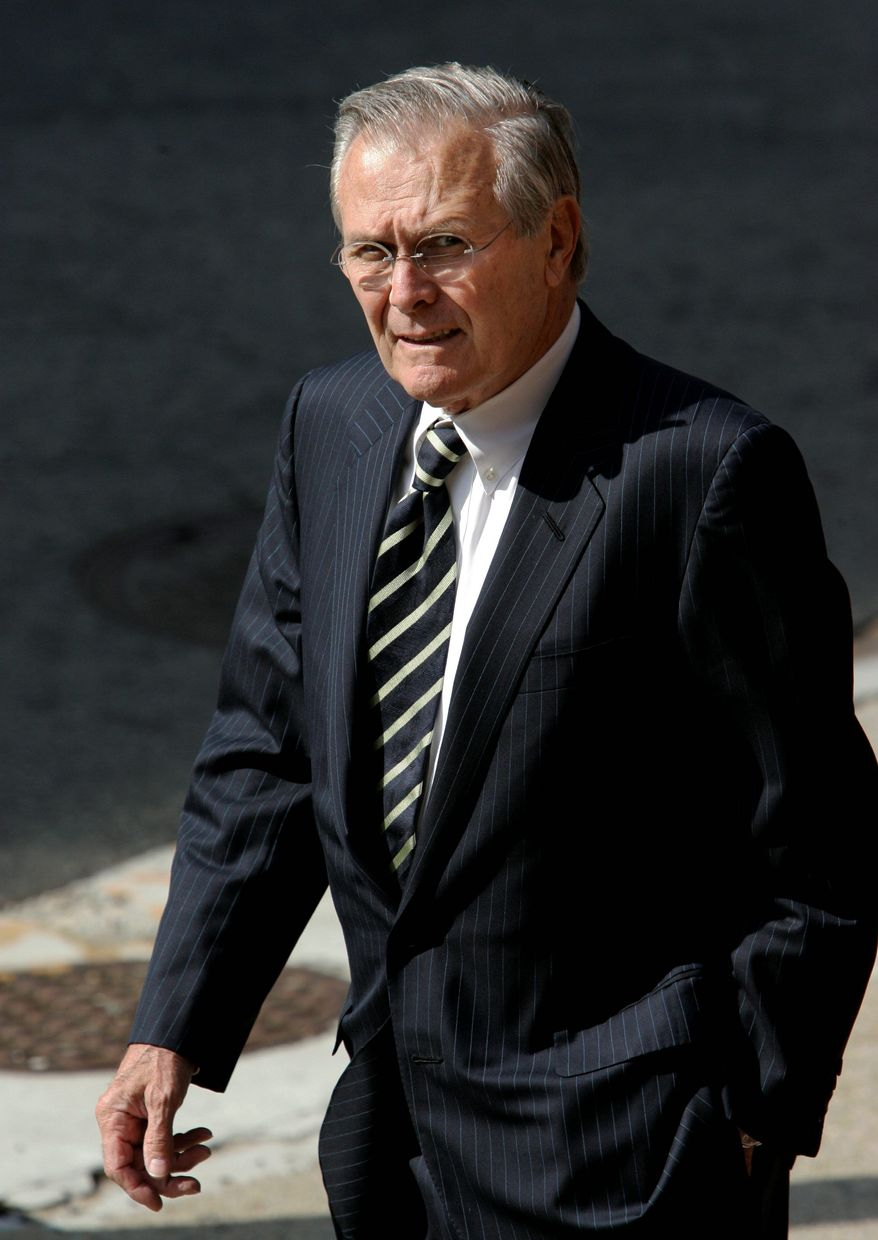 Former Defense Secretary Donald H. Rumsfeld released a large cache of unclassified documents relating to his decades-long government career. (Associated Press)