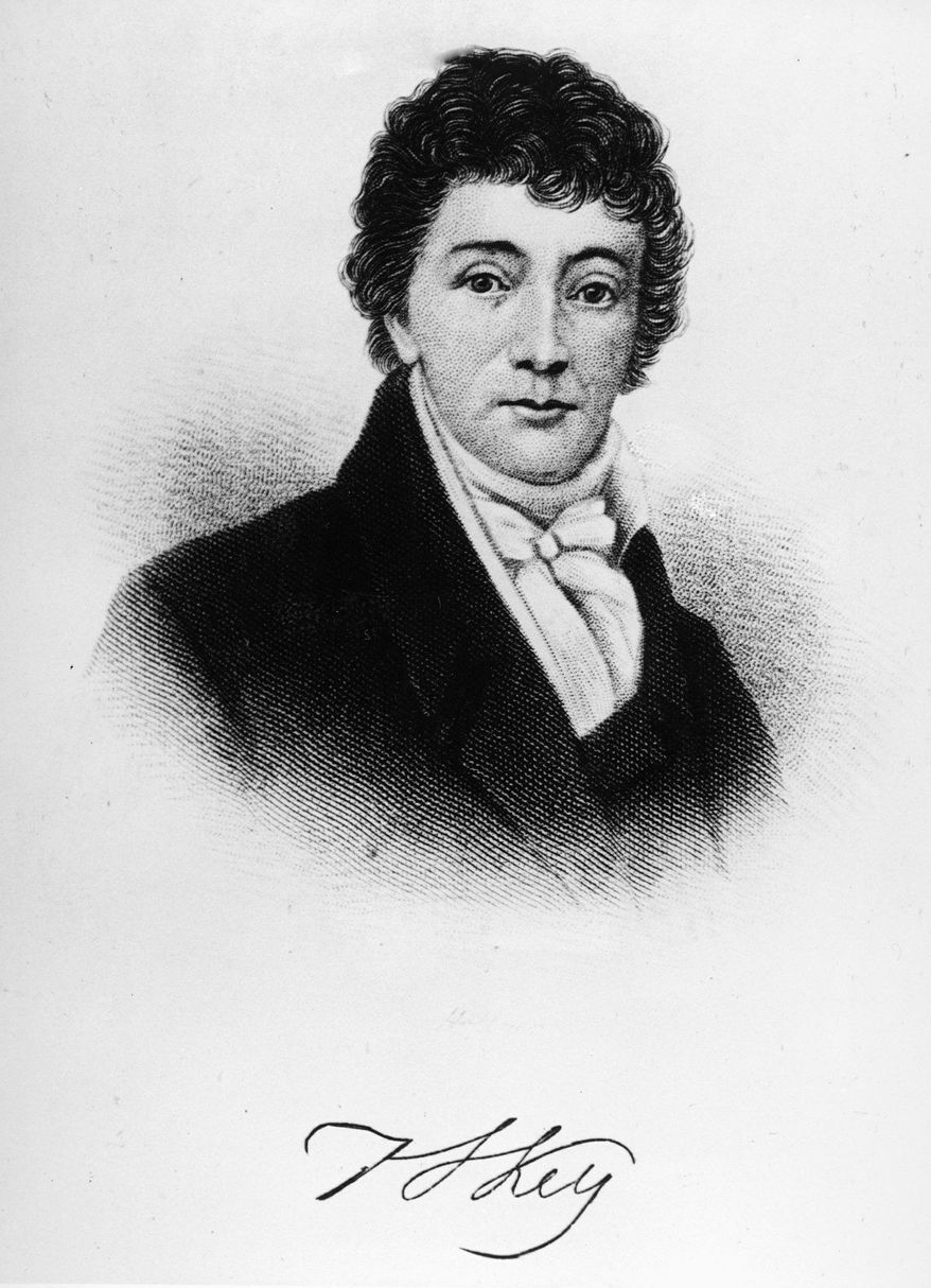"Francis Scott Key is still No. 1 on America's hit parade with his 197-year-old song, ""The Star-Spangled Banner,"" no matter how off-Key it is performed. (Associated Press)"