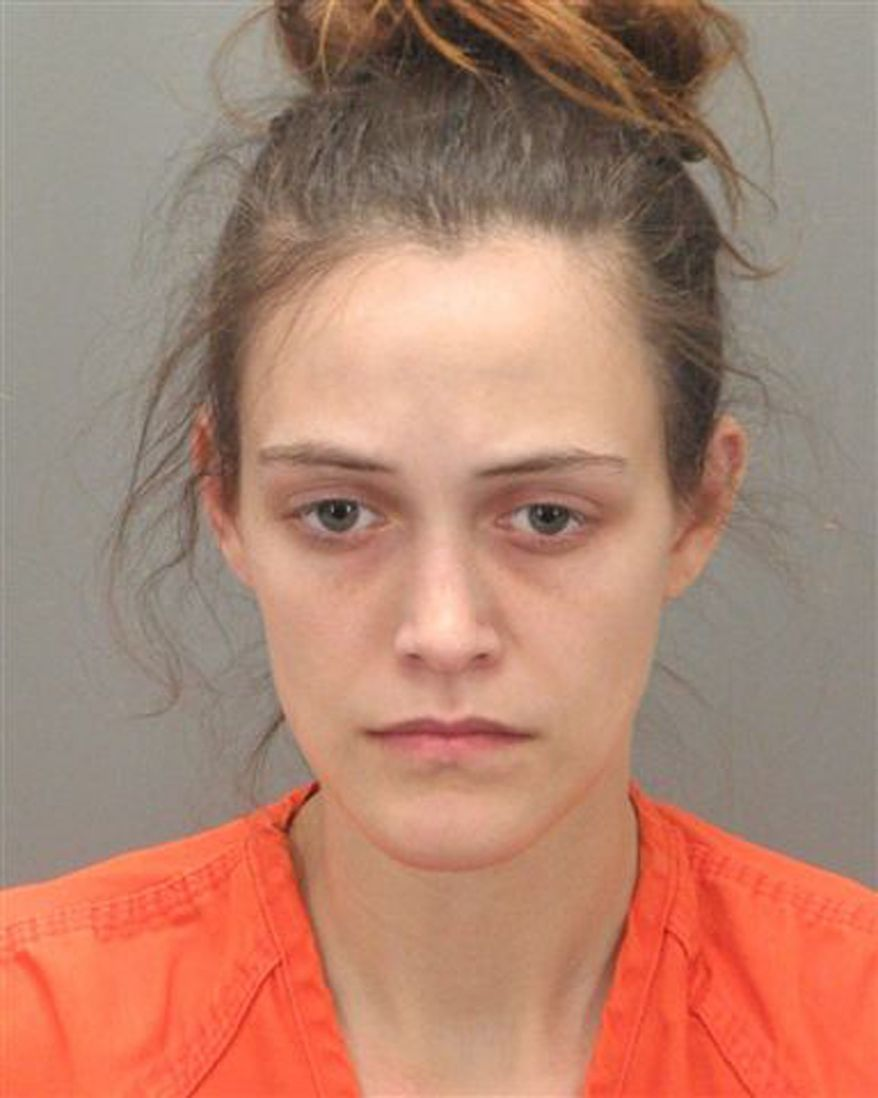 This Feb. 8, 2011, photo provided by the Greenville (S.C.) County Detention Center, shows Jessica Blackham, the Easley, S.C., woman arrested Tuesday and charged with child abuse after authorities say her newborn infant was found in the toilet of an arena in downtown Greenville, S.C. The baby had hypothermia and was taken to a hospital, where he was listed as improving late Tuesday. (AP Photo/Greenville County Detention Center)