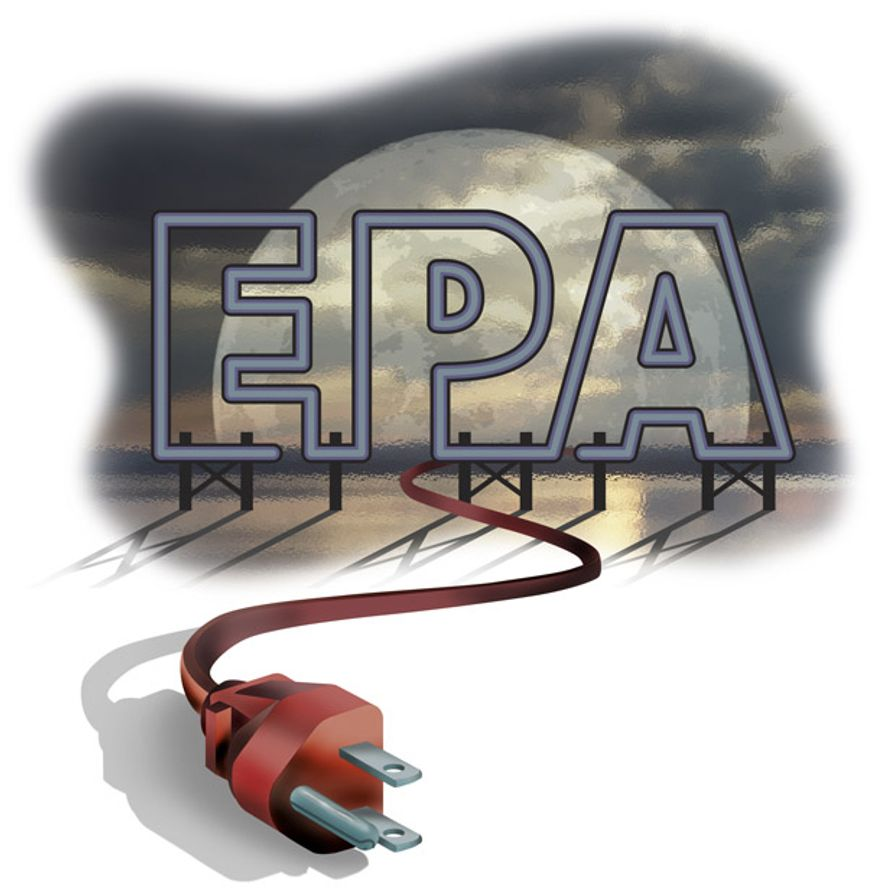 Illustration: EPA Unplugged by Greg Groesch for The Washington Times