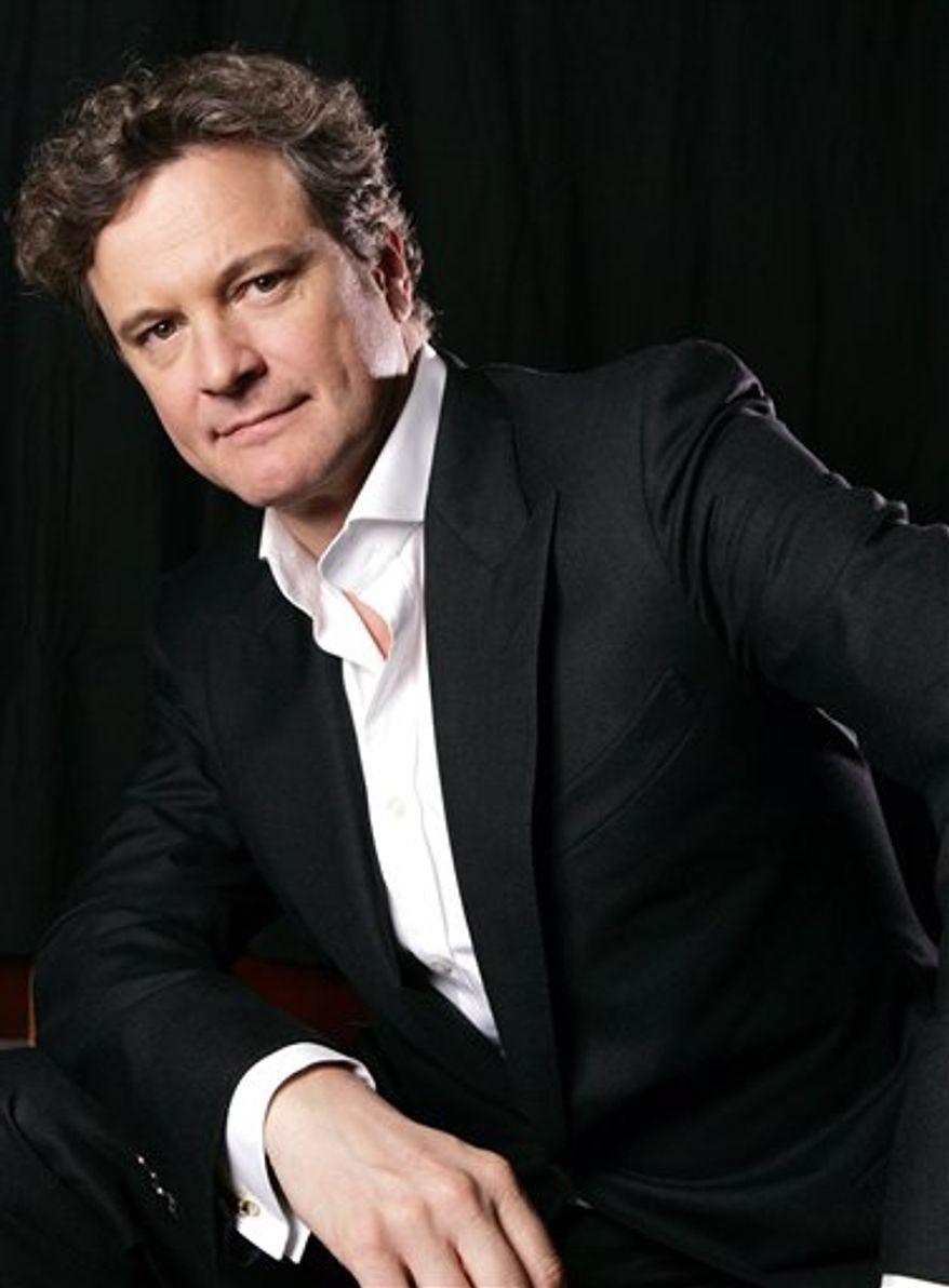 "FILE - In this Sept. 10, 2010 file photo, actor Colin Firth of the film ""The King's Speech"" poses for a portrait while promoting the film at the Toronto International Film Festival. A stuttering monarch, a neurotic ballerina and an enterprising computer nerd are facing off Sunday Feb. 13, 2011 for the British Academy Film Awards, Britain's equivalent of the Oscars. ""The King's Speech"" has 14 nominations for Sunday's prizes, including best picture and best actor for Colin Firth, who plays reluctant British ruler King George VI. (AP Photo/Carlo Allegri, file)"