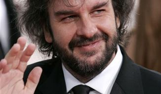 "FILE - In this Jan. 16, 2006 file photo, Director Peter Jackson arrives at the 63rd annual Golden Globe Awards, in Beverly Hills, Calif.   The cast members of ""The Hobbit"",  directed by Jackson, on Friday, Feb. 11, 2011, declared themselves ready for the cameras to roll on the next edition of mythical adventures from Middle Earth, after months of production trouble.  (AP Photo/Mark J. Terrill, File)"