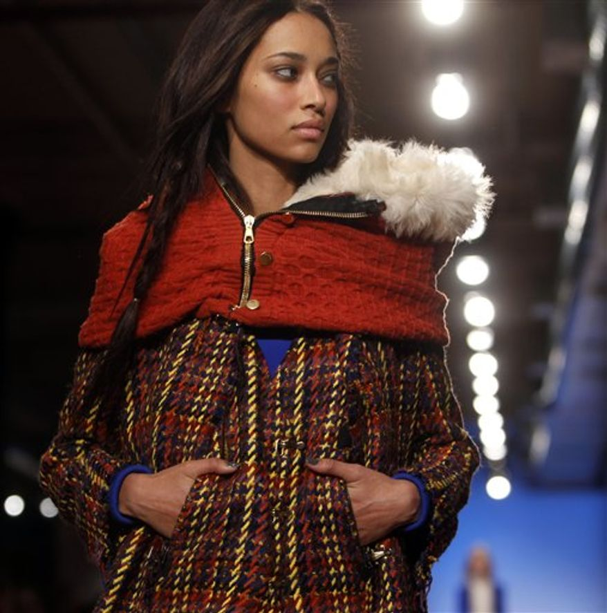 The Rag and Bone fall 2011 women's collection is modeled during Fashion Week Friday, Feb. 11, 2011 in New York. (AP Photo/Jason DeCrow)