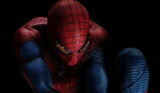 """** FILE ** Andrew Garfield portrays as Spider-Man in Columbia Pictures' """"The Amazing Spider-Man."""" (AP Photo/Sony Pictures)"""