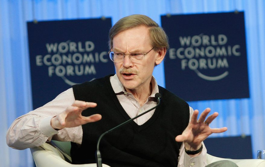 """World Bank Group President Robert Zoellick participates in a session at the World Economic Forum in Davos, Switzerland, in late January. He said """"we need global action to ensure we do a better job of feeding the hungry. ..."""" (Associated Press)"""