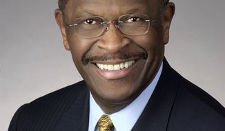 """A critic has labeled presidential hopeful Herman Cain a """"black conservative mascot"""" following his speech before CPAC 2011. (Photo from Herman Cain Presidential Exploratory Committee)"""