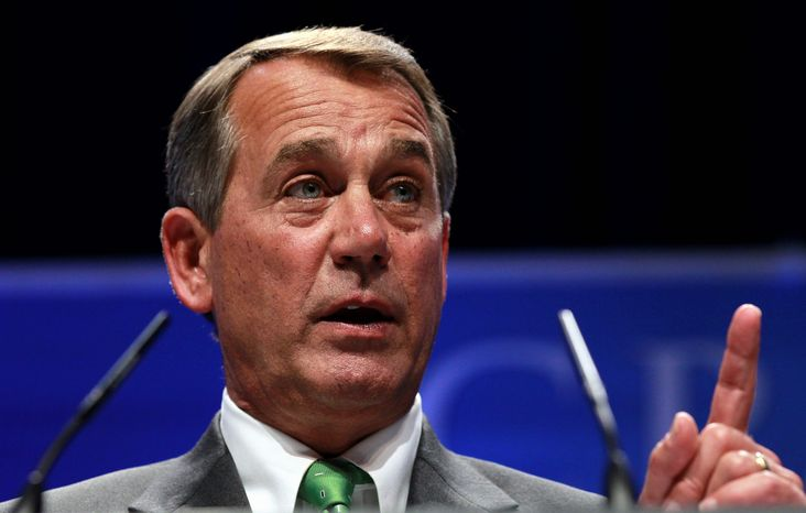 """In the last two years, under President Obama, the federal government has added 200,000 new federal jobs,"" House Speaker John A. Boehner, Ohio Republican, said Tuesday as the GOP outlined proposed budget cuts. ""If some of those jobs are lost, so be it. We're broke."" (Associated Press)"