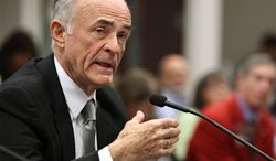 In this Feb. 1, 2011 file photo, Washoe County District Court Judge Peter Breen testifies on the importance of mental health court during a budget subcommittee hearing at the Legislature in Carson City, Nev. (AP Photo/Cathleen Allison)