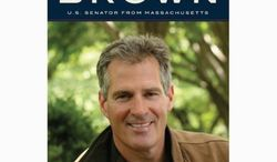 "Sen. Scott Brown starts a 16-city book tour this week, promoting ""Against All Odds,"" his memoir revealing his own childhood abuse and hardship. (Harper Collins)"
