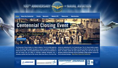 Screen capture of the website for the 100th Anniversary of Naval Aviation Foundation (Courtesy of navalaviation100.org)