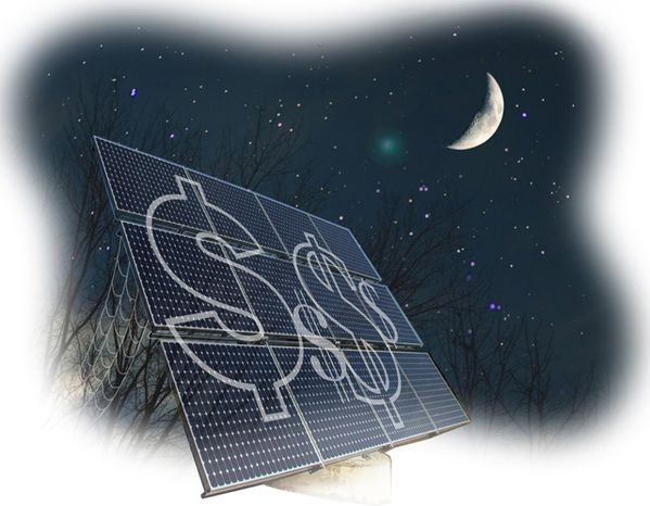 Illustration: Solar panel losers by Greg Groesch for The Washington Times