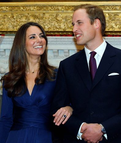 A more flattering photo of the royal couple was taken at St. James's Palace in London. (Associated Press)