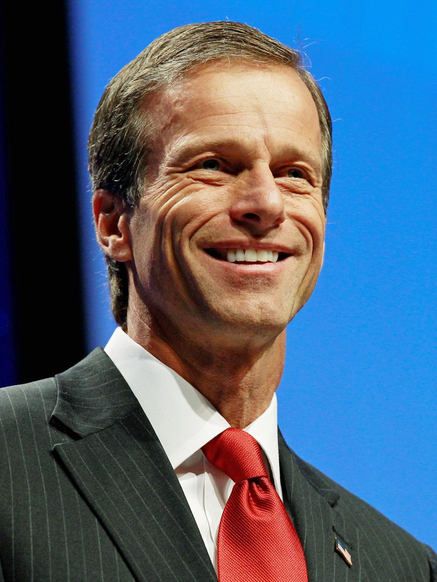 Sen. John Thune of South Dakota has declined to pursue a presidential bid next year and will remain in the Senate where he's serving his second term. (Associated Press)