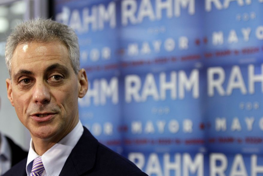 Chicago mayoral candidate Rahm Emanuel listens to questions at a news conference during his campaign in Chicago, Sunday, Feb. 20, 2011. (AP Photo/Nam Y. Huh)
