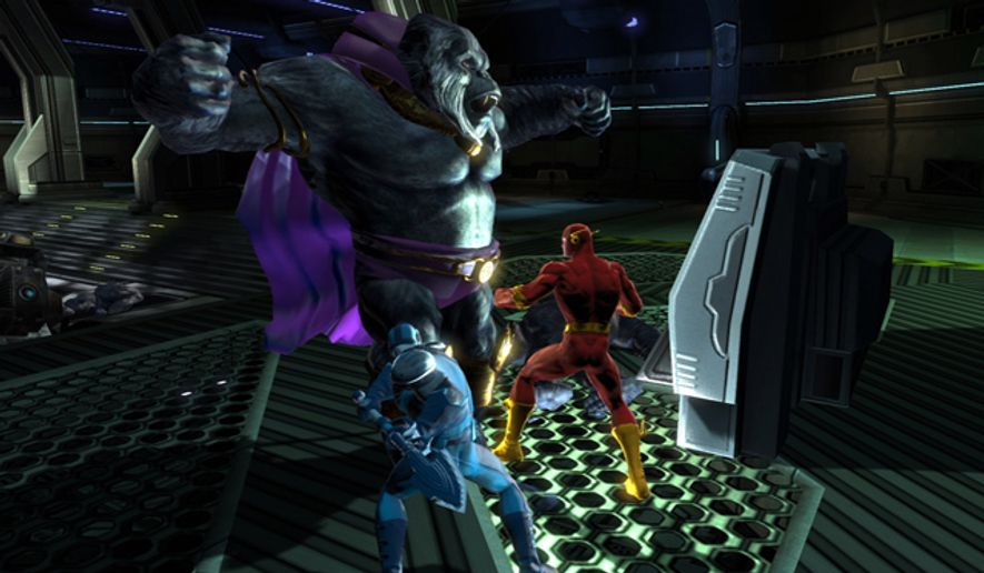 Players help Flash stop Gorilla Grodd in DC Universe Online for the PlayStation 3.