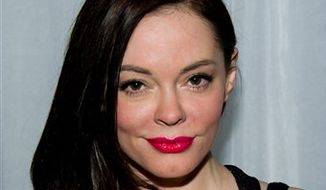 In this Feb. 13, 2011 file photo, actress Rose McGowan attends the Preen Fall 2011 show in New York. (AP Photo/Charles Sykes, file) ** FILE **