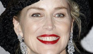 "FILE - In this Jan. 14, 2011 file photo, U.S. actress Sharon Stone arrives for the screening of ""Largo Winch II""  in Paris, France. (AP Photo / Francois Mori, file)"