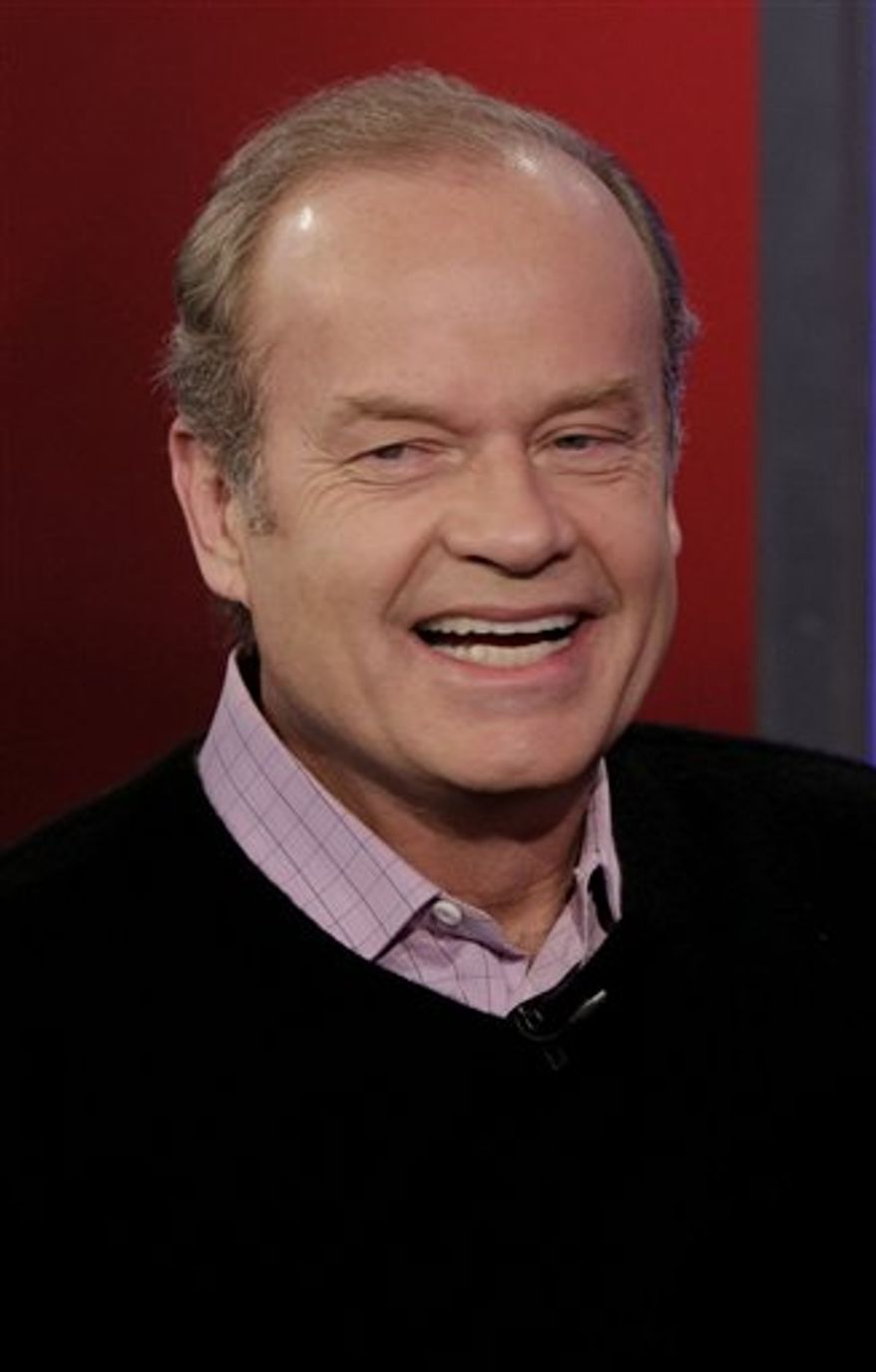 "FILE - In this Dec. 15, 2010 file photo, actor Kelsey Grammer is interviewed on the ""Fox & friends"" television program in New York.  (AP Photo, file)"