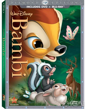 """""""Bambi,"""" Disney's 1942 animated classic, is being released in the Blu-ray format."""